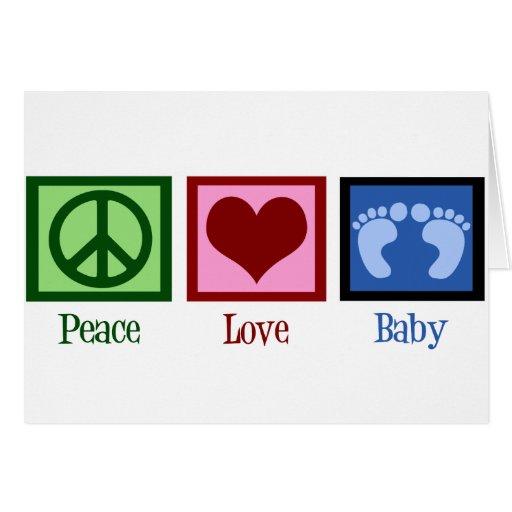 Peace Love Baby Boy Card