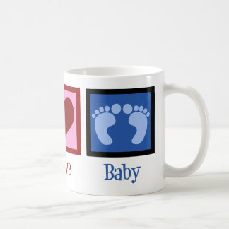 Peace Love Baby Boy Coffee Mug