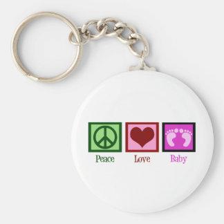 Peace Love Baby Girl Keychain
