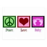 Peace Love Baby Girl Postcard