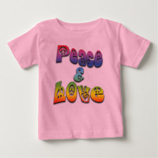 Peace & Love Baby T-Shirt