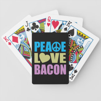 Peace Love Bacon Bicycle Playing Cards