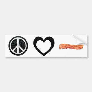 peace love bacon bumper sticker