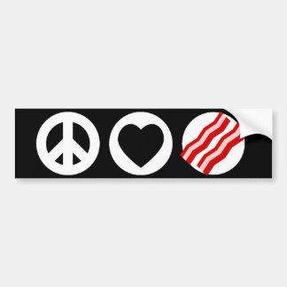 Peace Love Bacon Bumper Stickers