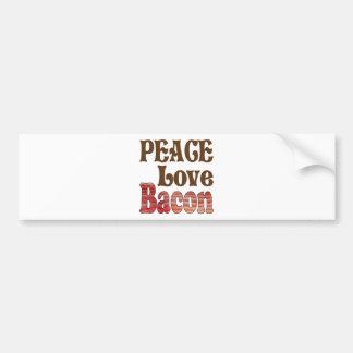 Peace Love Bacon Car Bumper Sticker