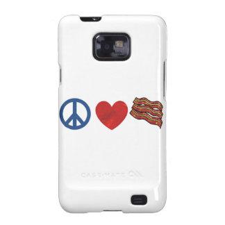 Peace Love Bacon Samsung Galaxy SII Cases