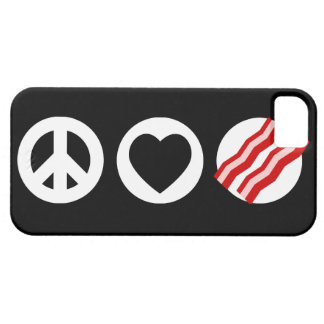Peace Love Bacon iPhone 5 Cases
