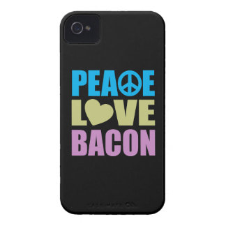 Peace Love Bacon iPhone 4 Case-Mate Case