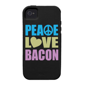 Peace Love Bacon Vibe iPhone 4 Case