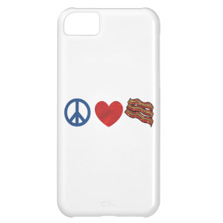 Peace Love Bacon iPhone 5C Cover