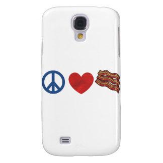 Peace Love Bacon Galaxy S4 Covers