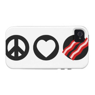 Peace Love Bacon Vibe iPhone 4 Cover