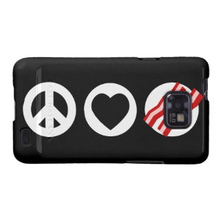 Peace Love Bacon Galaxy SII Covers