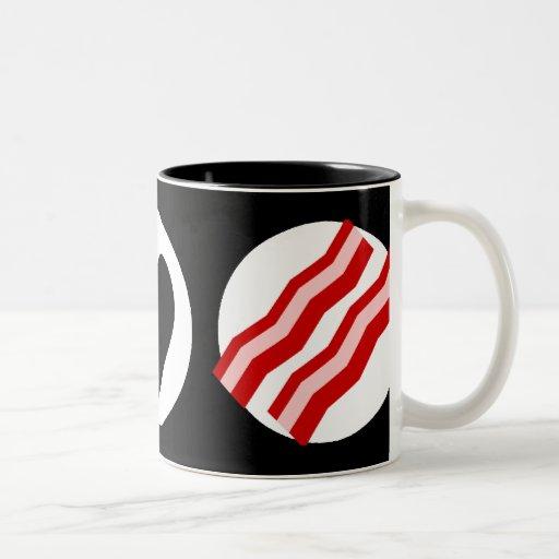 Peace Love Bacon Coffee Mugs