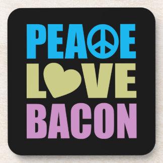 Peace Love Bacon Drink Coaster