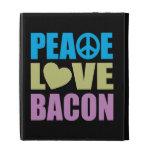 Peace Love Bacon iPad Folio Cover