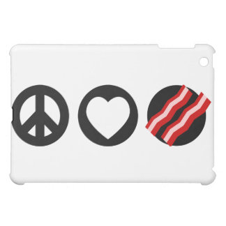 Peace Love Bacon iPad Mini Cases