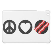 Peace Love Bacon iPad Mini Cover