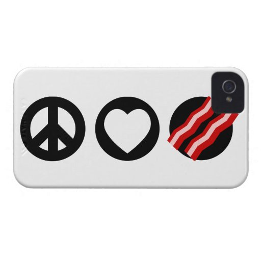 Peace Love Bacon iPhone 4 Covers