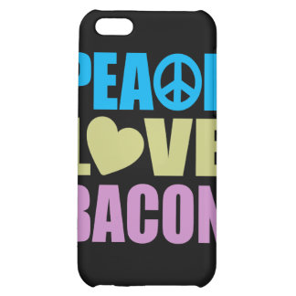 Peace Love Bacon iPhone 5C Cases
