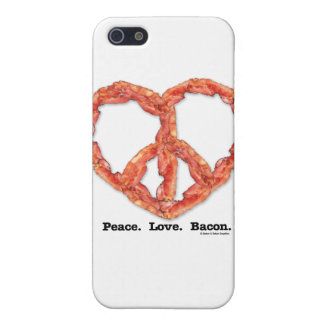 Peace. Love. Bacon. iPhone 5 Cases
