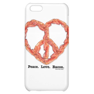 Peace. Love. Bacon. iPhone 5C Covers