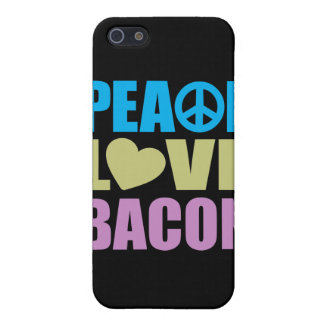 Peace Love Bacon Covers For iPhone 5