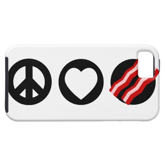 Peace Love Bacon iPhone SE/5/5s Case