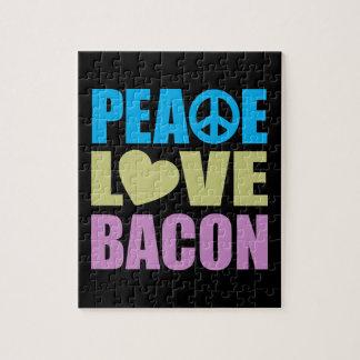 Peace Love Bacon Jigsaw Puzzle