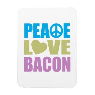 Peace Love Bacon Magnet