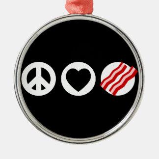 Peace Love Bacon Ornament