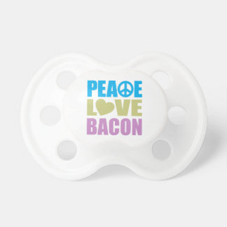 Peace Love Bacon Pacifier