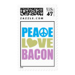 Peace Love Bacon Postage Stamp