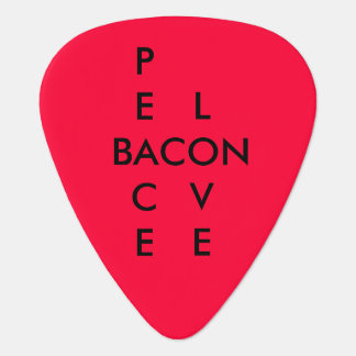 Peace Love Bacon Rocks Guitar Picks