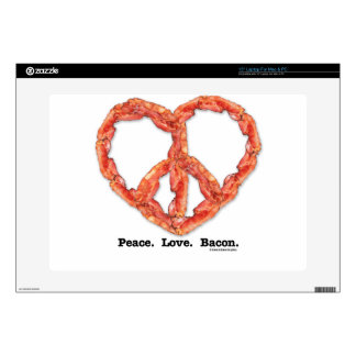 Peace. Love. Bacon. Laptop Skins