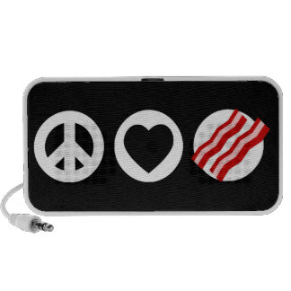 Peace Love Bacon iPhone Speakers