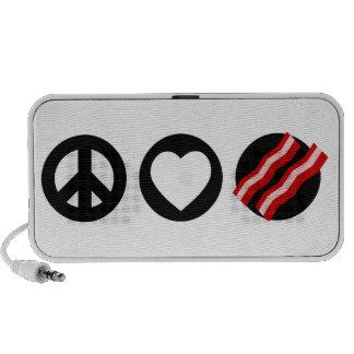 Peace Love Bacon iPod Speakers