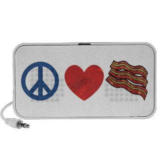 Peace Love Bacon iPod Speaker