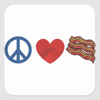 Peace Love Bacon Stickers