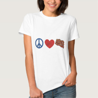 Peace Love Bacon T-shirt