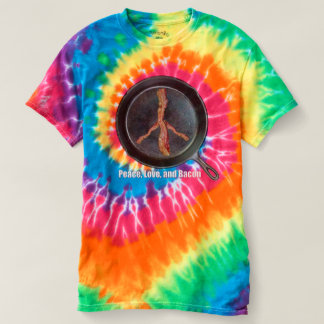 Peace love bacon tie dye t-shirt