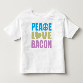 Peace Love Bacon Toddler T-shirt