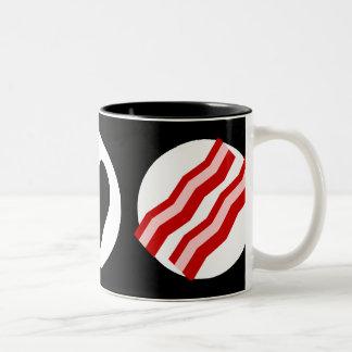 Peace Love Bacon Two-Tone Coffee Mug