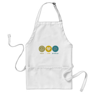 Peace Love Bacteriology Adult Apron