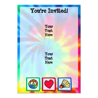 Peace, Love, Badminton Card