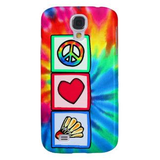 Peace, Love, Badminton Galaxy S4 Cases