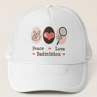 Peace Love Badminton Hat