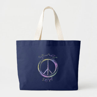 peace love tote bags