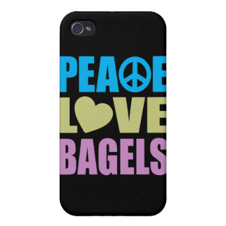 Peace Love Bagels iPhone 4 Covers