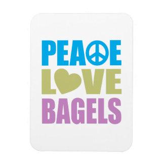 Peace Love Bagels Magnet